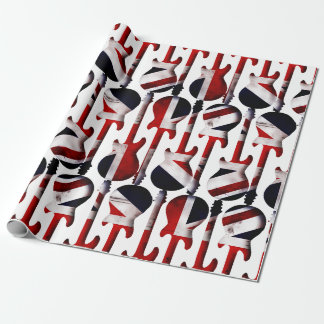 Guitar Art - Union Jack British England UK Flag Wrapping Paper