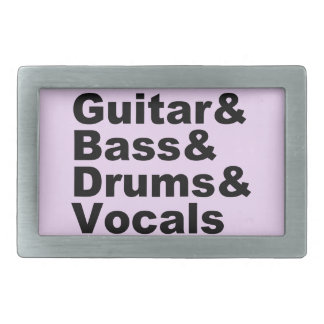Guitar&Bass&Drums&Vocals (blk) Belt Buckle