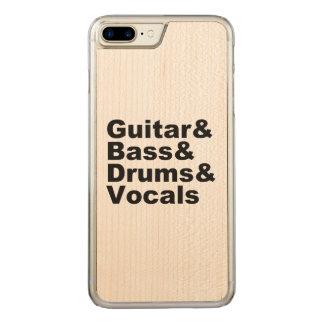 Guitar&Bass&Drums&Vocals (blk) Carved iPhone 8 Plus/7 Plus Case
