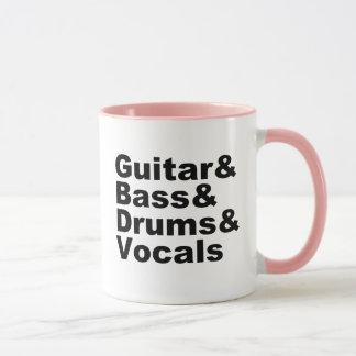 Guitar&Bass&Drums&Vocals (blk) Mug