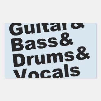 Guitar&Bass&Drums&Vocals (blk) Sticker