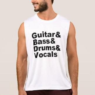 Guitar&Bass&Drums&Vocals (blk) Tank Top