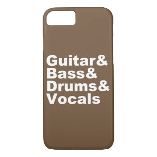 Guitar&Bass&Drums&Vocals (wht) Case-Mate iPhone Case