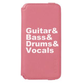 Guitar&Bass&Drums&Vocals (wht) Incipio Watson™ iPhone 6 Wallet Case