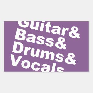 Guitar&Bass&Drums&Vocals (wht) Sticker