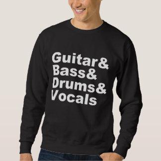 Guitar&Bass&Drums&Vocals (wht) Sweatshirt