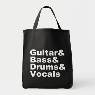 Guitar&Bass&Drums&Vocals (wht) Tote Bag