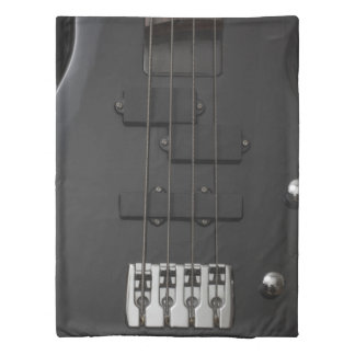 Guitar bass instrument black duvet cover