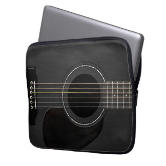 Guitar Black Laptop Sleeve