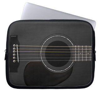 Guitar Black Laptop Sleeve