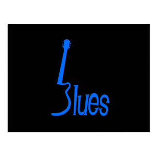 Guitar Blues Postcard