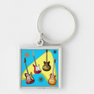 Guitar boomerang keychain
