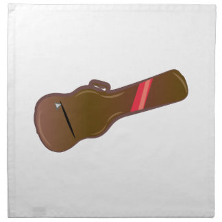 Guitar Case Printed Napkin