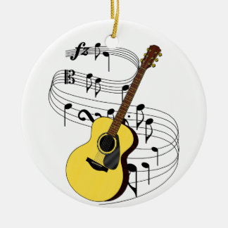 Guitar Ceramic Ornament