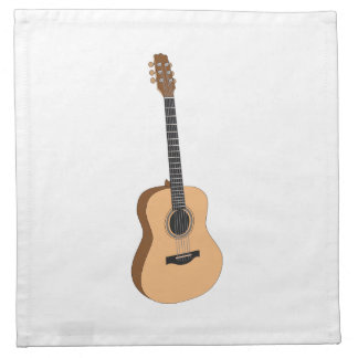 Guitar clipart printed napkin