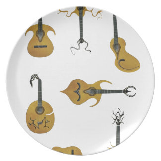Guitar Collection Party Plates
