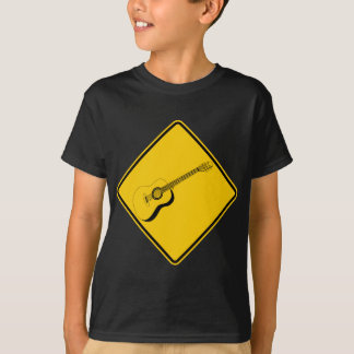 Guitar Crossing Highway Sign T-Shirt