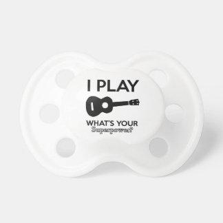 guitar designs pacifier