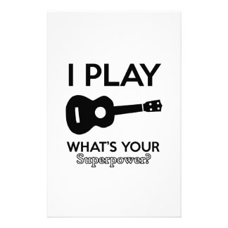 guitar designs stationery