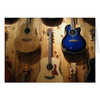 guitar display card