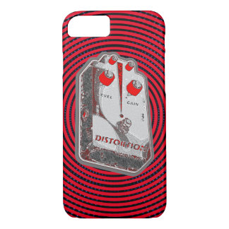 Guitar Distortion Pedal -Red/Grey iPhone 7 Case