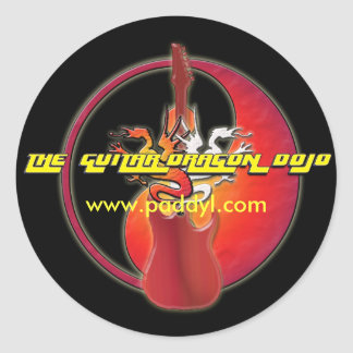 Guitar Dragon Dojo Sticker