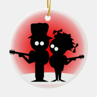 Guitar Duo Ceramic Ornament