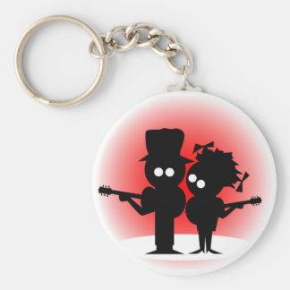 Guitar Duo Keychain