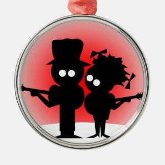 Guitar Duo Metal Ornament