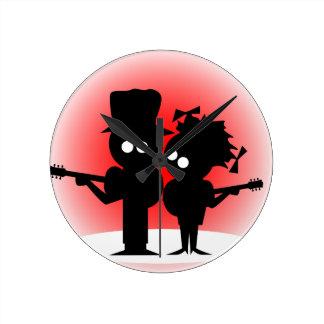 Guitar Duo Round Clock