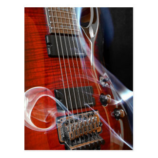 Guitar Eight Strings Seven-String Guitars Postcard