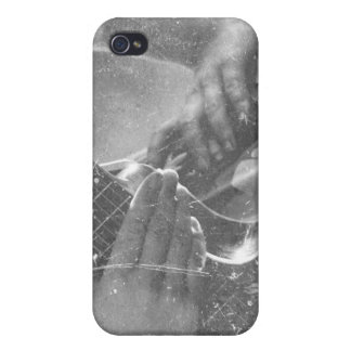 guitar female player hand on hip bw music design iPhone 4/4S cases