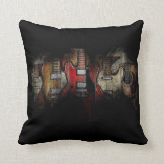 Guitar Fever Polyester Throw Pillow (Two Colors)