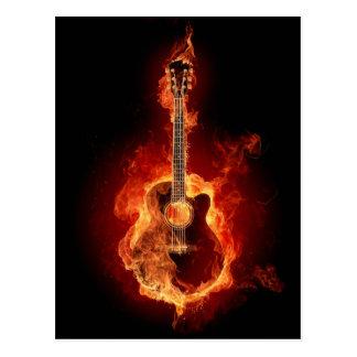 Guitar Flames Postcard