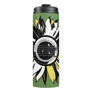 Guitar Flower Bird Travel Mug