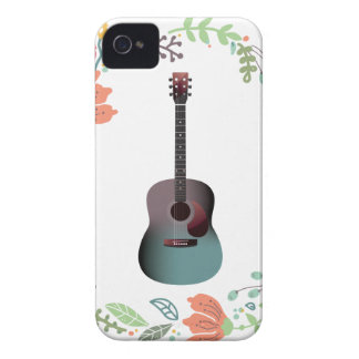 Guitar Flower Ring iPhone 4 Cases
