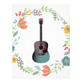 Guitar Flower Ring Letterhead