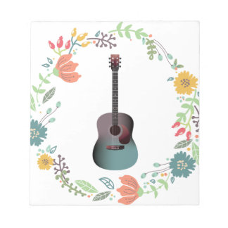 Guitar Flower Ring Notepads