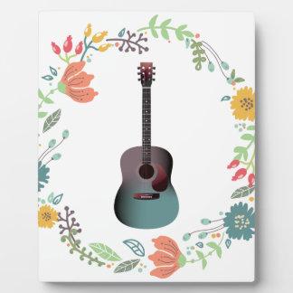 Guitar Flower Ring Plaque