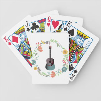 Guitar Flower Ring Poker Deck