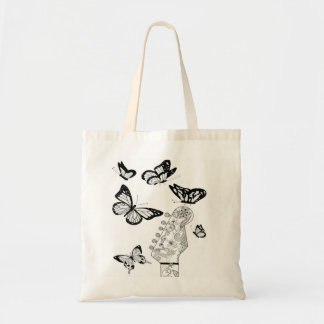guitar&fly tote bag