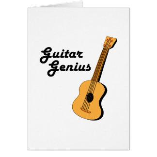 Guitar Genius Greeting Card