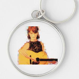 guitar girl playin' keychain