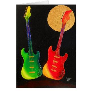 Guitar Glitter Card