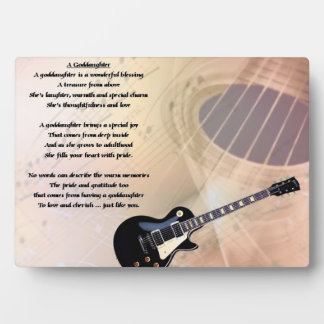 Guitar goddaughter poem plaque