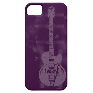 Guitar Graphic Purple iPhone 5 Case