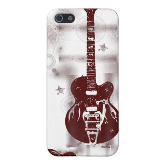 Guitar Graphic Red iPhone Case iPhone 5 Cases