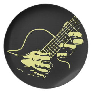 Guitar Hands II -yel Party Plates