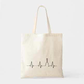 Guitar Heartbeat | My Heart Beats for Music Tote Bag