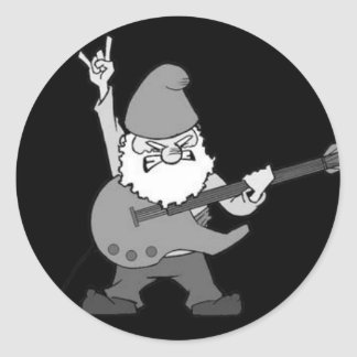 Guitar Hero Gnome Classic Round Sticker